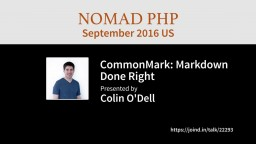 CommonMark: Markdown Done Right