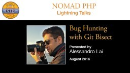 Bug Hunting with Git Bisect