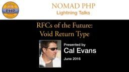 RFCs of the Future: Void Return Type