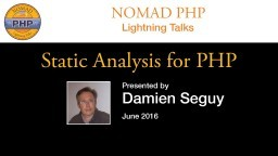 Static analysis for PHP