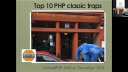 Top 10 PHP coding traps