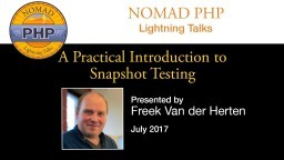 A Practical Introduction to Snapshot Testing